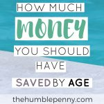 How Much Money You Should Have Saved by Age