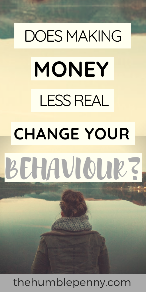 Does Making Money Less Real Change Your Behaviour?