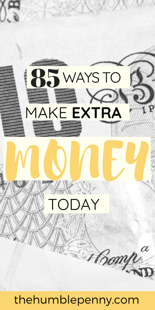85 Tried and Tested Ways and Ideas for you to Make Extra Money monthly and get closer to Financial Independence! You can Make Money Online, from a Side Hustle, Selling & Renting stuff, from your Job etc. #MakeMoneyOnline #SideHustle #Blogging #Money #Wealth #FinancialIndependence #FinancialFreedom #SAHM
