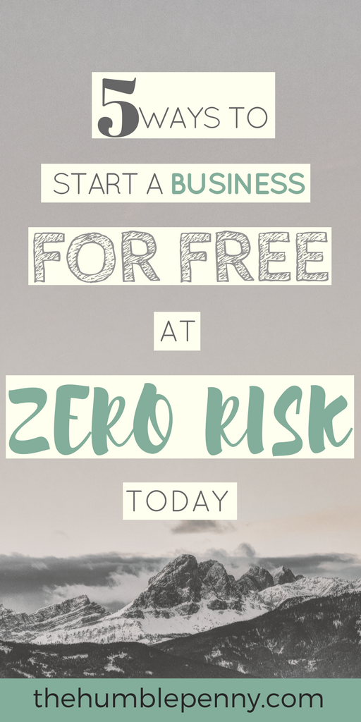 Want to start a business but have no money? Here are 5 ways to Start a Business Today for Free at Zero Risk and with minimal hassle.
