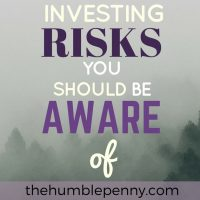 Investing Risks You Should Be Aware Of
