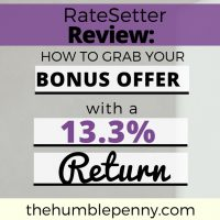 RateSetter Review: A New Way To Invest. Plus Bonus Offer