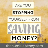 Are You Stopping Yourself From Saving Money?