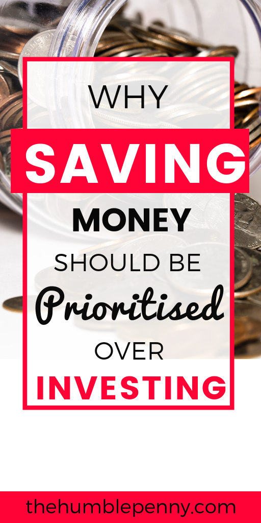 Focus on Saving Money or Invest? One should lead to the other, although there are very specific reasons why you MUST prioritise saving money any day over investing. Read these insights and tips to gain a better appreciation for why you MUST save no matter what! #Savings #SavingMoney #Investing #PersonalFinance #Money