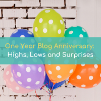 1 year blog anniversary: Highs, Lows and Surprises