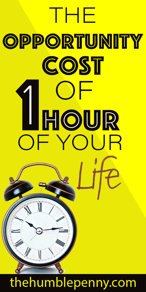 the opportunity cost of one hour of your life