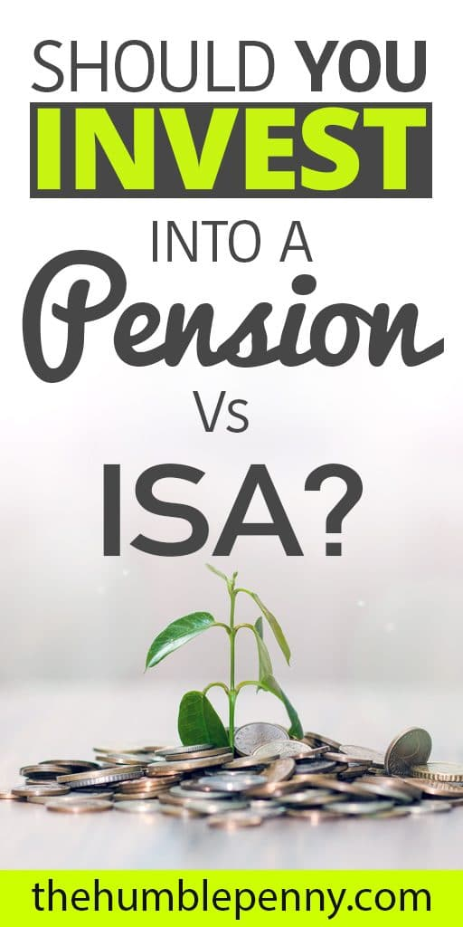 invest money in pension vs ISA