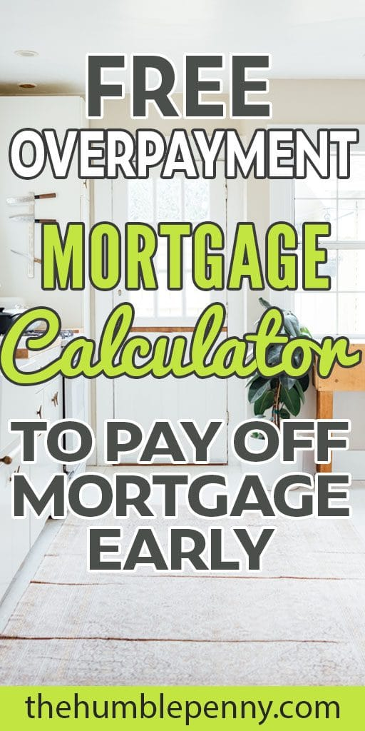 overpayment mortgage payoff calculator how to payoff mortgage early