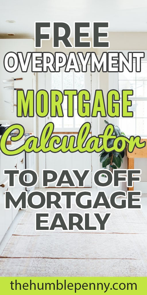 free overpay mortgage calculator to payoff mortgage early