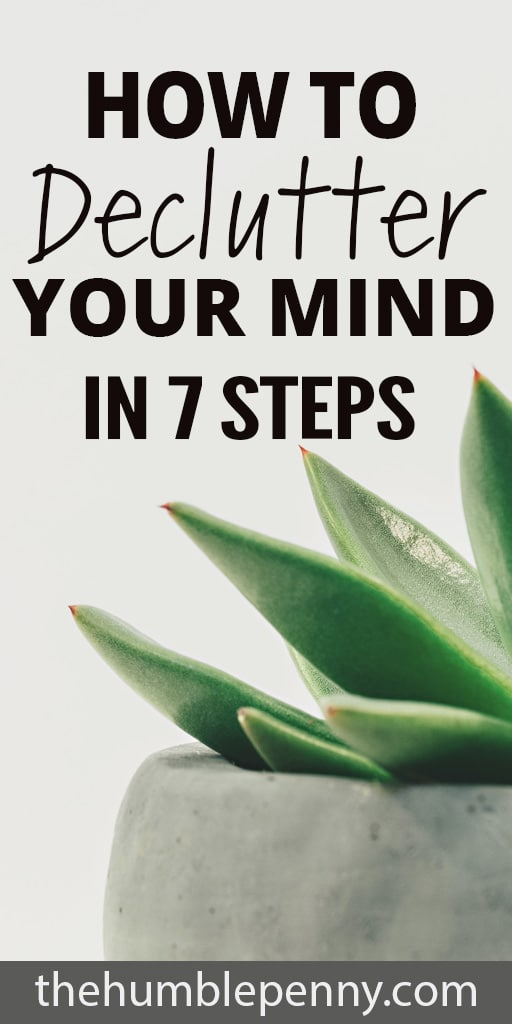 How to Declutter Your Mind For Peace and Progress In 7 Steps