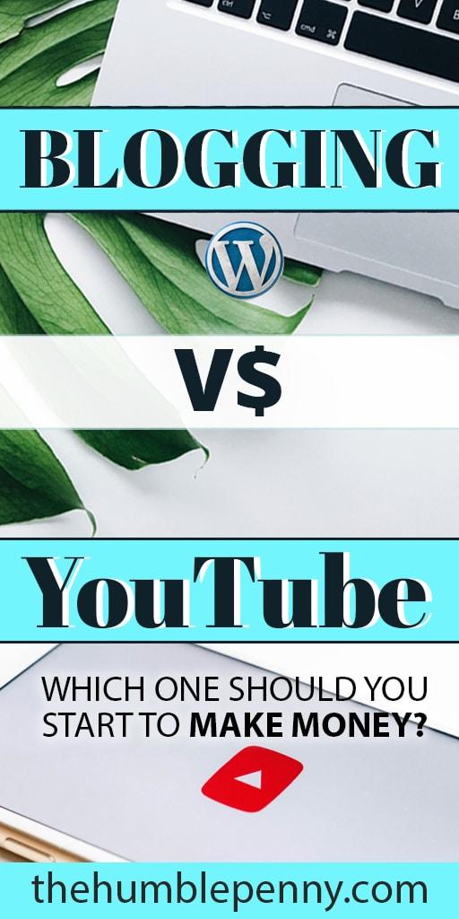 youtube vs blogging blog vs vlog
