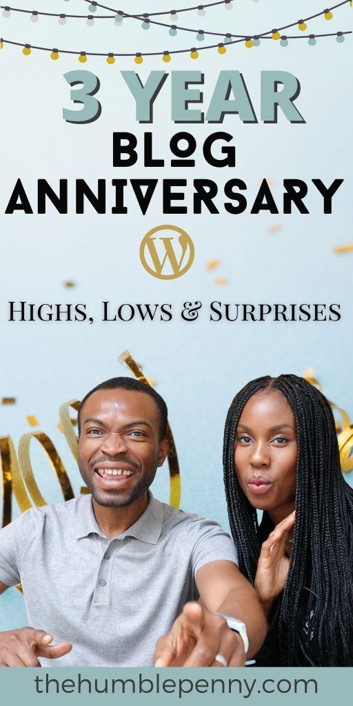 3 year blog anniversary